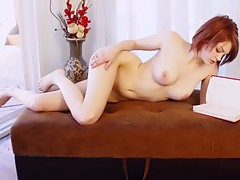 Redhead gets pussy eaten out